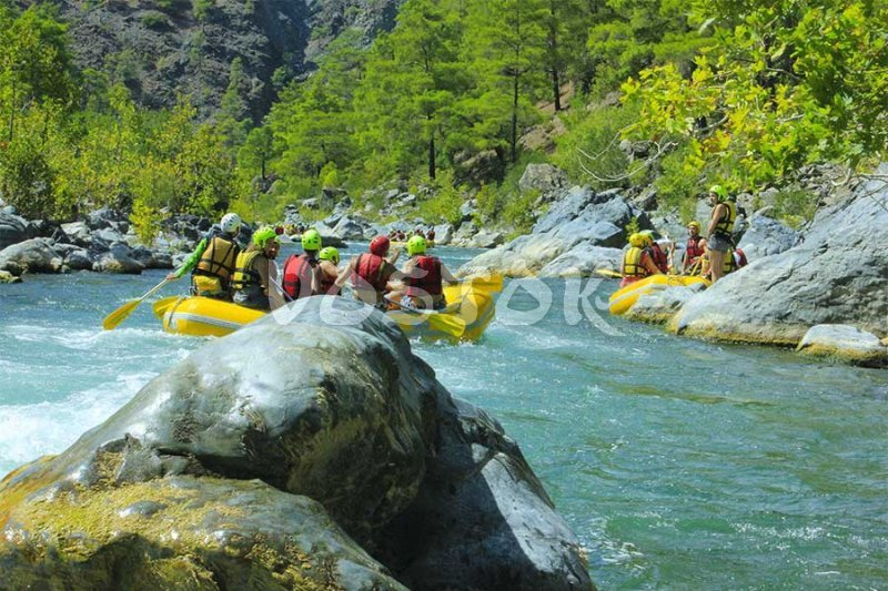 White water rafting on Dalaman river