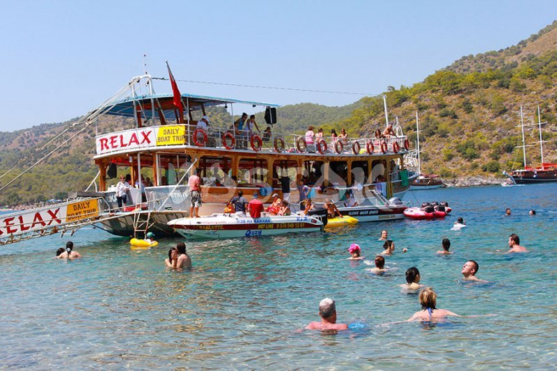 Another swiming stop during the boat trip from Oludeniz