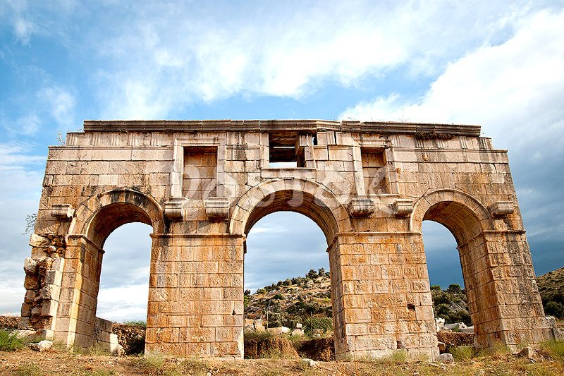 Triumphal Arch of Metius Modestus - city gate of the ancient city of Patara