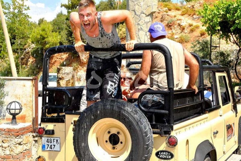 Cold water makes people for excited during the jeep safari