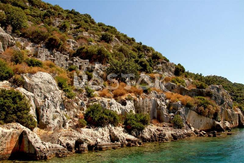 Ruins of ancient city Kekova