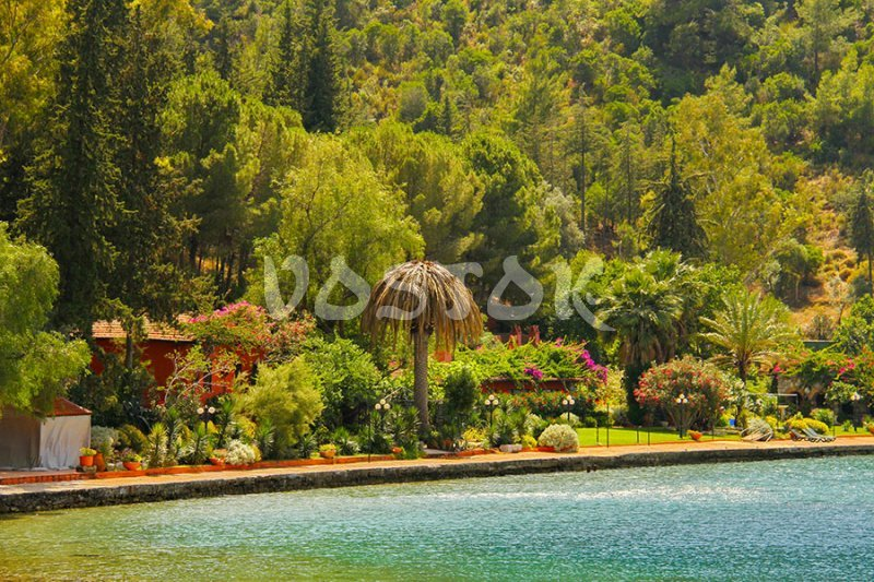 One of the private islands in the Gulf of Fethiye