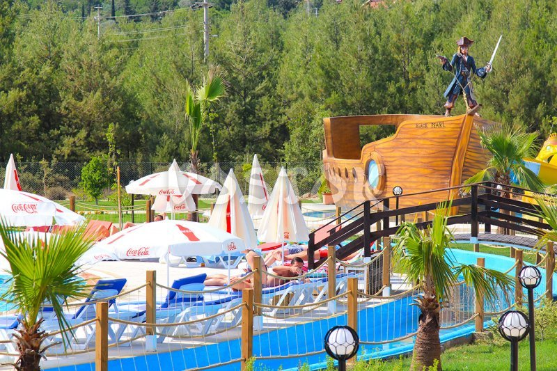 View on the main terrace and Pirate Ship