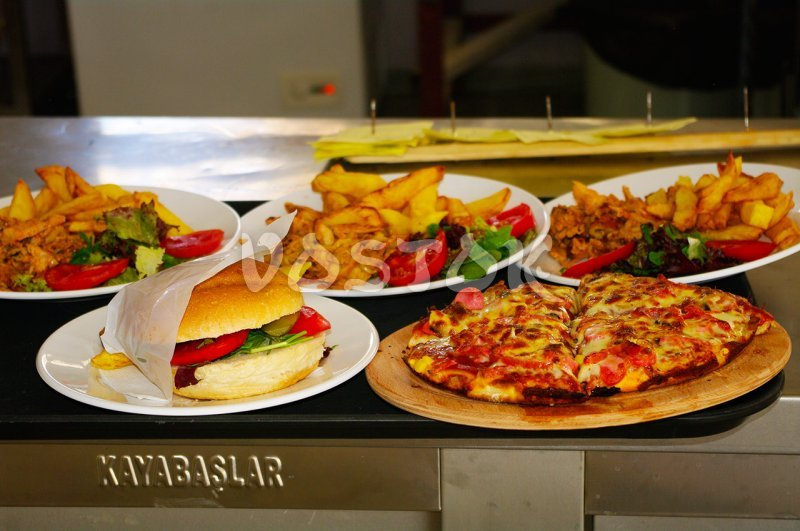 Available food in the restaurant in Oludeniz Water World