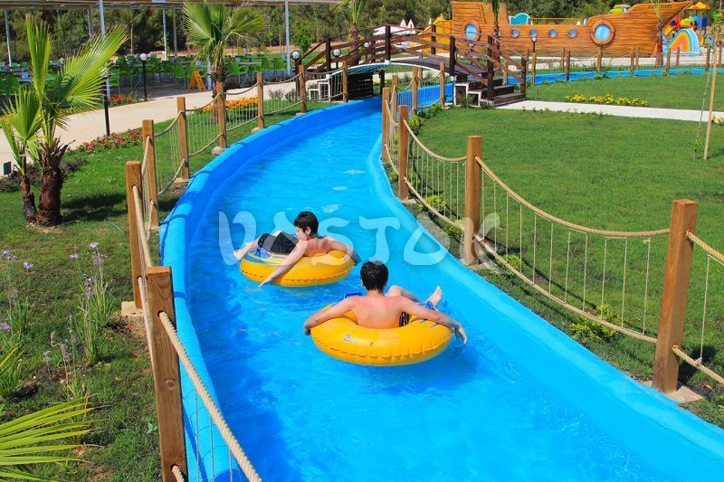 The Lazy River for rafting in Oludeniz Aquapark