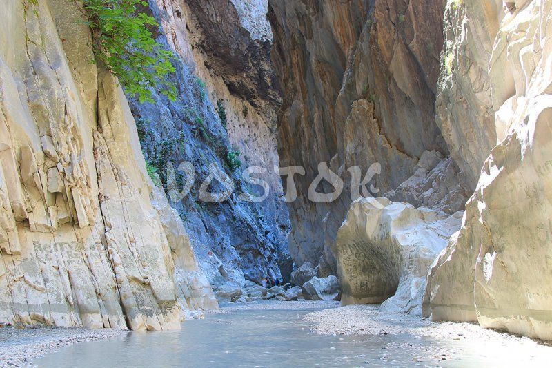 Your eyes are getting happy to see the colors of Saklikent gorge