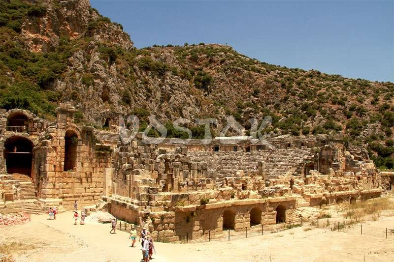 The remains of Roman theater in Myra
