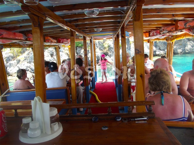 Lower deck of Angel boat