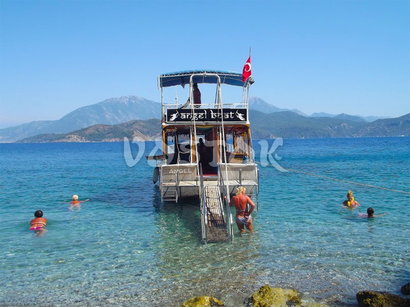 Angel boat will take you to secluded bays of gulf of Fethiye