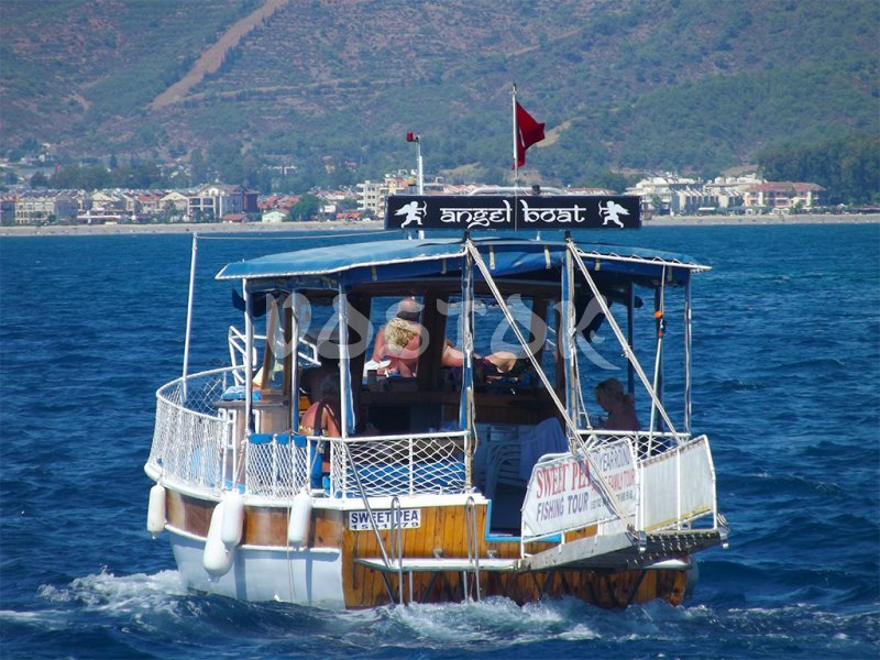 Sweet Pea boat is heading back to Fethiye harbour