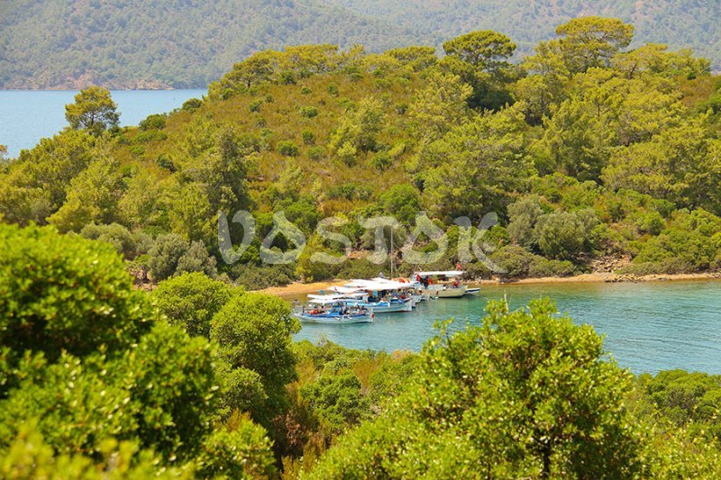 Private boats near Gocek