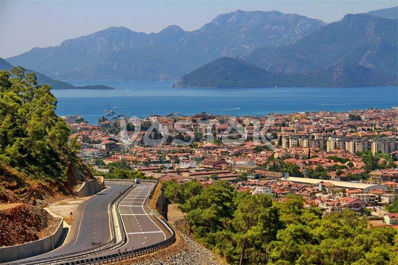 View over the Marmaris Turkey