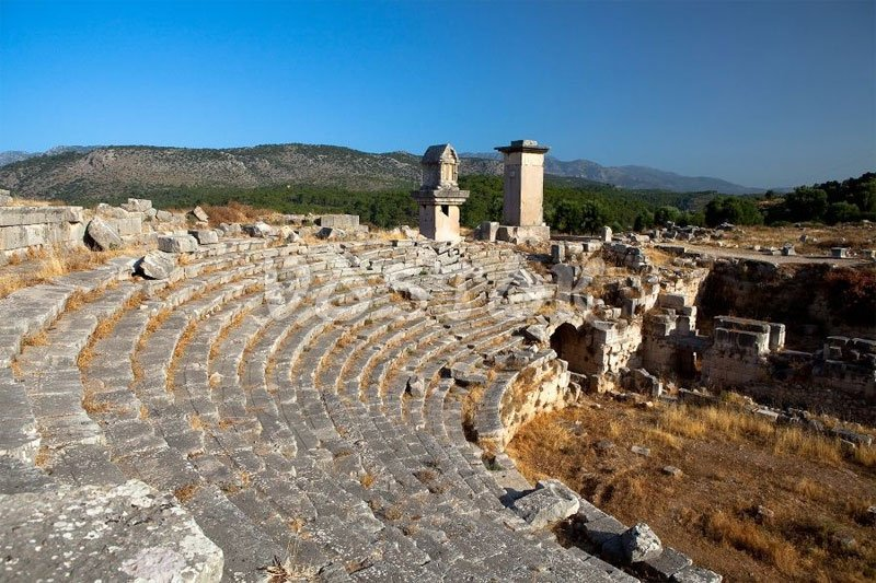 Roman theater in Xanthos Turkey