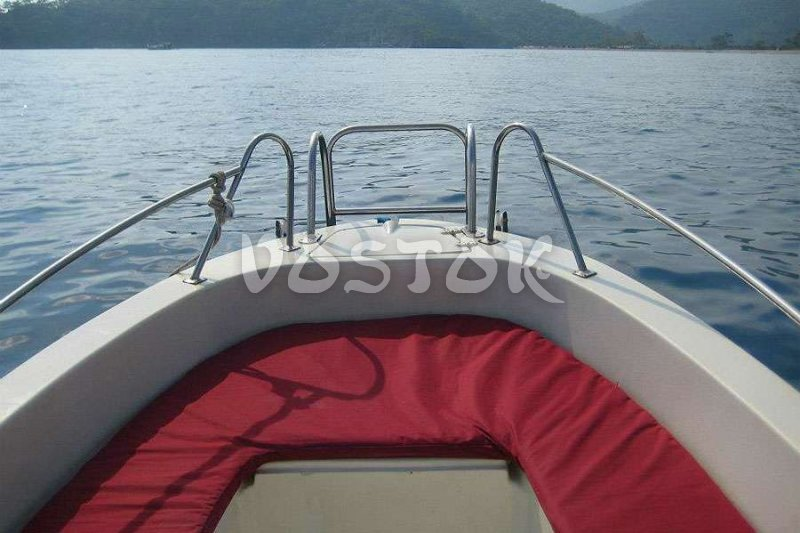 Seats for passengers at speed boat